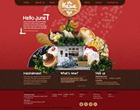 Hana restaurant | Web design