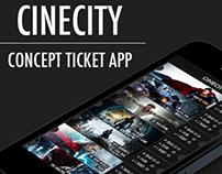CineCity - concept ticket app