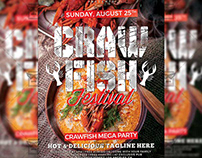 Crawfish Festival Flyer - Food A5 Template