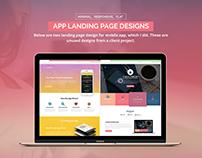 App Landing Page Designs