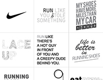 NIKE - 'RUN' SERIES TSHIRT