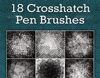 Crosshatch Pen Brushes (Photoshop)