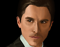 Christian Bale Illustration