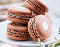 MACAROONS FOR CAFE POUCHKINE MOSCOW.