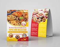 Restaurant Table Tent Template Vol.16