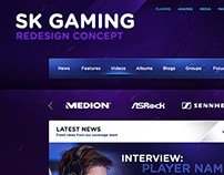 SK Gaming - eSport Website