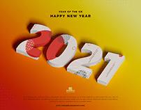 Free New Year 2021 Mockup