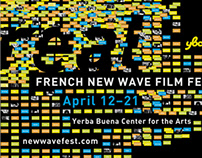French New Wave Film Festival Poster *Student project