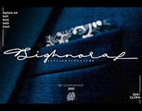 FREE | Sighnora Elegant Signature Font