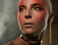 Phoenix-Inspired Beauty Shoot