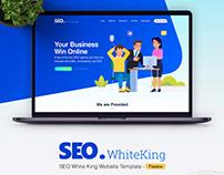 Free* SEO White King Website Template