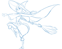 """soonsang works - free drawing """"Little witch"""""""