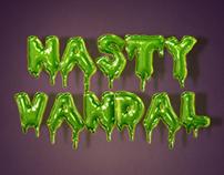 Nasty Vandal Typography