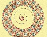 """""""Swirl in style"""" pen drawing & digital artwork"""