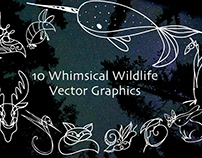 Whimsical Wildlife Vector Graphics