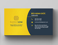 Golden Line Logo and Business Card