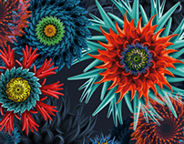 Cyber flowers for wacomka.com