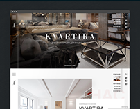 Kvartira showroom. Web design concept.