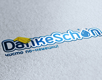 Danke Schon logo and promo materials design