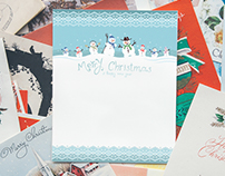 Design vector new year cards. set of icons