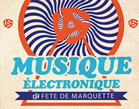 Musique Electronique 2013 poster and flyers