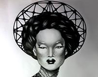 CHINA GIRL. Ilust. a lápiz