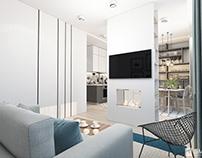 Дизайн однокомнатной квартиры 43 кв. м