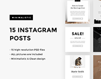 15 Minimalistic Instagram Posts