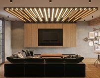 Визуализация дома, в стиле Loft