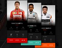 Formula 1 App - Daily UI 006