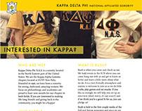 Kappa Delta Phi NAS Informational Flyers