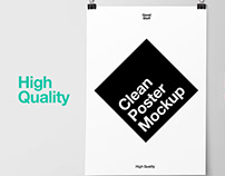 Clean A3 Poster Free Mockup