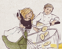 Illustration for the home pastry
