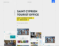 St Cyprien Tourist Office / UI design / Art direction