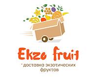 Exotic fruits logotype