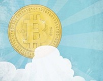 Illustrations for the magazine Emerce, about bitcoins
