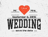 Wedding vector set badges and logos