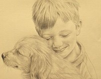 Boy with a Puppy by Kevin Geary