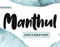 Manthul – Cute & Bold Font