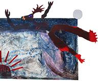 Collage print series: Great plains- Maa on niin laakea