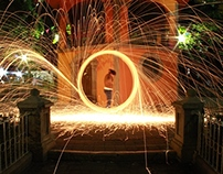 Steel Wool Downtown Photography