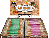 Artisan Caramels Rack Display with Header Card
