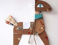 Paper sculptures and toys