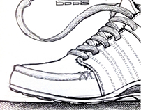 Footwear - Various Hand Sketches