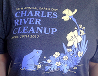 Charles River Cleanup T-Shirt Design