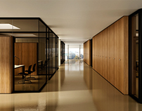 CG Visualization   Office Furniture   Partition Wall