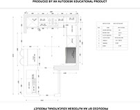 KITCHEN LAYOUT WITH ALL DETAILS AND SPECIFICATION.