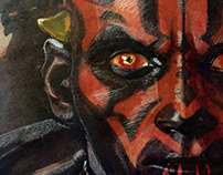 Maul watercolor sketch
