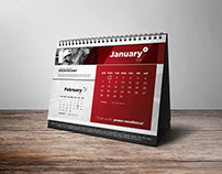 Calender Mockup for Indonesia Power (Red Version)