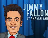 Jimmy Fallon Caricature
